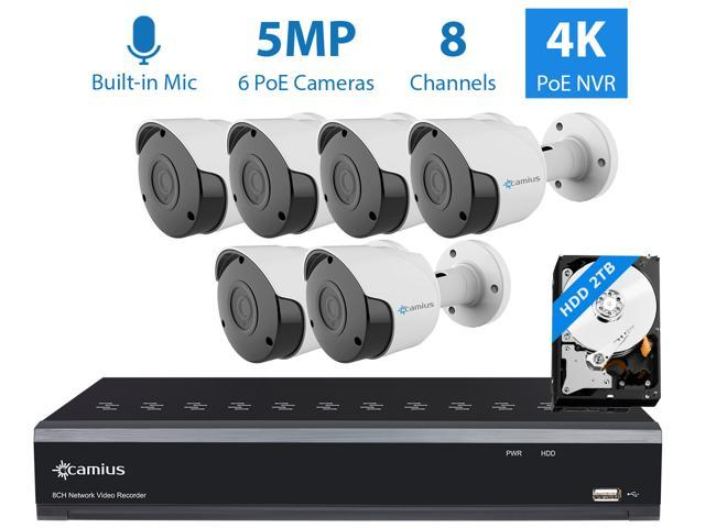 Camius Ultra HD 4K 8 Channel NVR PoE Security Camera System