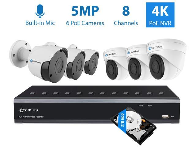 Camius 8CH 5MP PoE Home Security Camera System with Audio,6