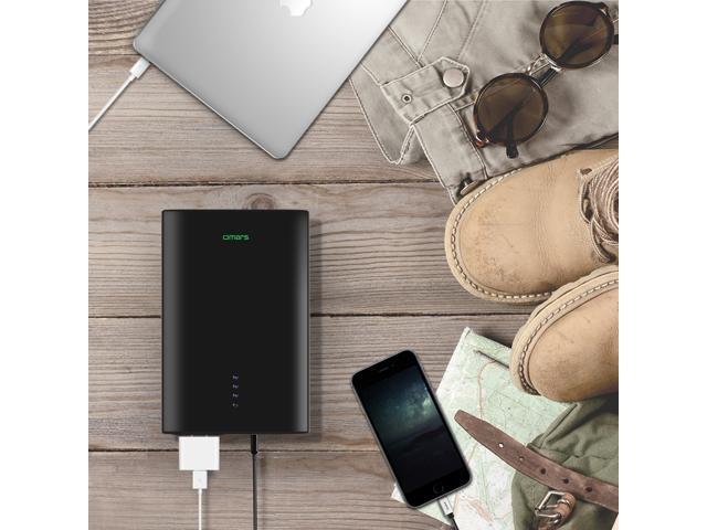 Omars AC Power Bank, 24000mAh AC Outlet Laptop Portable Battery Pack Travel  Charger output with two USB Ports, 80w Output, 88Wh Universal Travel