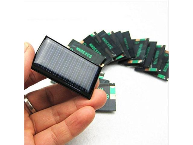4 Pcs 5v 30ma 53x30mm Micro Mini Power Solar Cells For Solar Panels Diy Projects Toys 3 6v Battery Charger Newegg Com