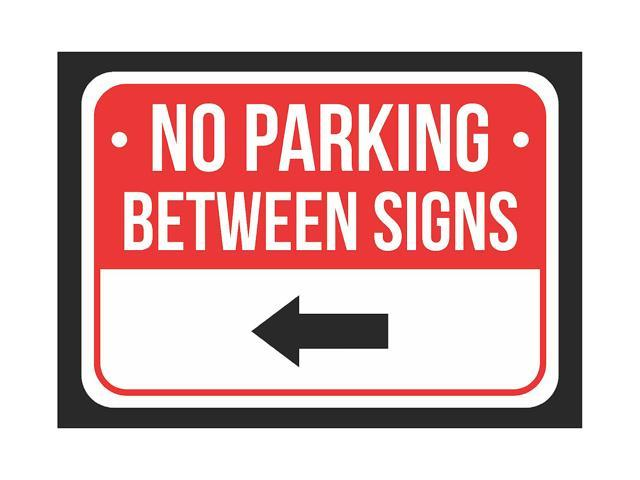 photo about Printable No Parking Signs identified as No Parking Involving Remaining Arrow Print Purple, White And Black Interest Parking Plastic Minimal Indicator - 2 Pack Of Indicators, 7.5x10.5 -