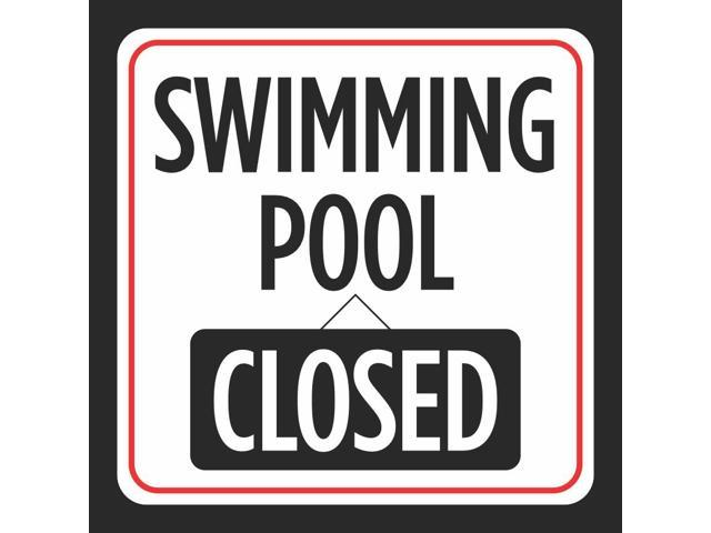 Swimming Pool Closed Picture Print Red White Black Caution Notice Swimming  Pools Hot Tub Safety Signs Com, 12x12