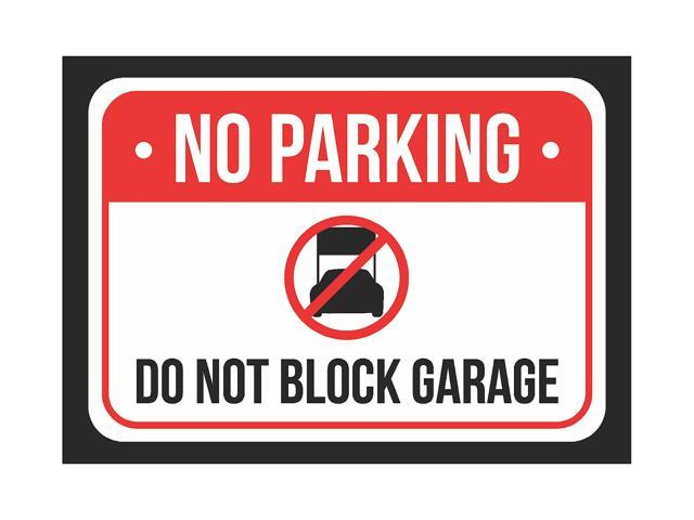 image regarding Printable No Parking Sign called No Parking Do Not Block Garage Print Pink, White And Black Attention Parking Plastic Lower Indication - 2 Pack Of Signs and symptoms, 7.5x10.5 -