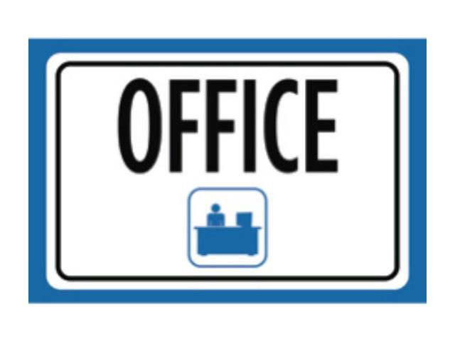 Office Print Blue White Black Notice Picture Symbol Business Sign