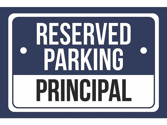 White and Black Notice Parking Metal Large Sign 12x18 4 Pack of Signs Reserved Parking Patients Print Blue