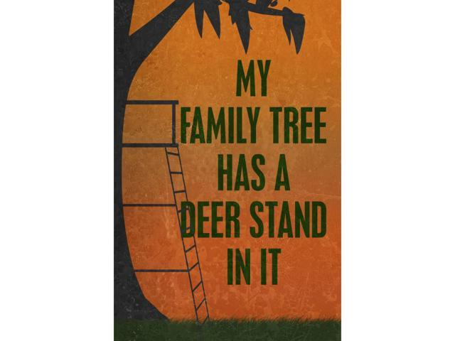 Aluminum Metal My Family Tree Has A Deer Stand In It Quote Picture Man Cave Wall Decoration Funny Humor Hunting Sign