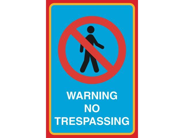 photograph regarding Printable No Trespassing Signs identified as Caution No Tresping Print Visualize Interest Dwelling Business office Get the job done Faculty Small business Indicator Aluminum Steel - 2 Pack -