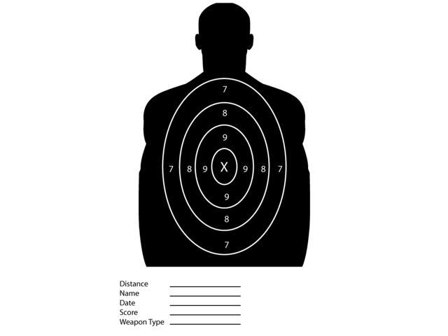 photograph about Silhouette Targets Printable named 25 Pack - Black Silhouette Paper Capturing Goals For The Variety -