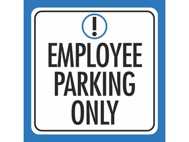 12x18 Staff Parking Only Print Blue White Black Picture Symbol Notice Car Park Lot Business Office Outdoor Sign Large