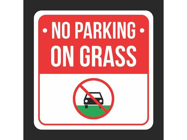 graphic relating to Printable No Parking Signs titled No Parking Upon Gr With Brand Print Black, White And Pink Steel Sq. Indication - 2 Pack Of Symptoms, 12x12 -