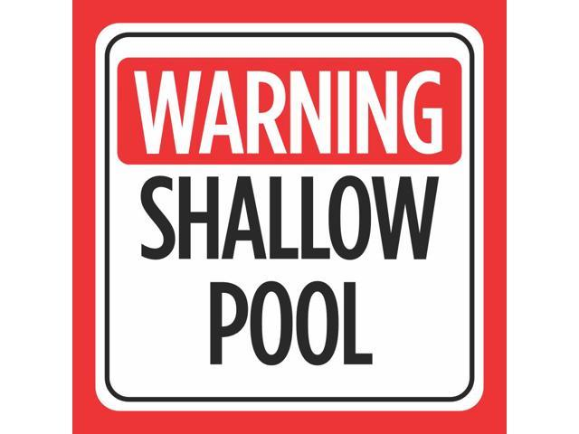 6 Pack - Warning Shallow Pool Print Red White Black Caution Notice Swim  Swimming Pools Hot Tub Safety Signs Co, 12x12 - Newegg.com