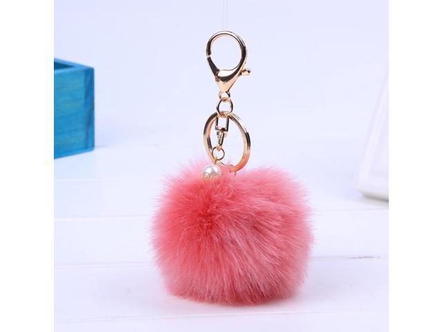 Women Bag Fur Key Chain Car Keychain Pom Pom 8cm Pompom 13