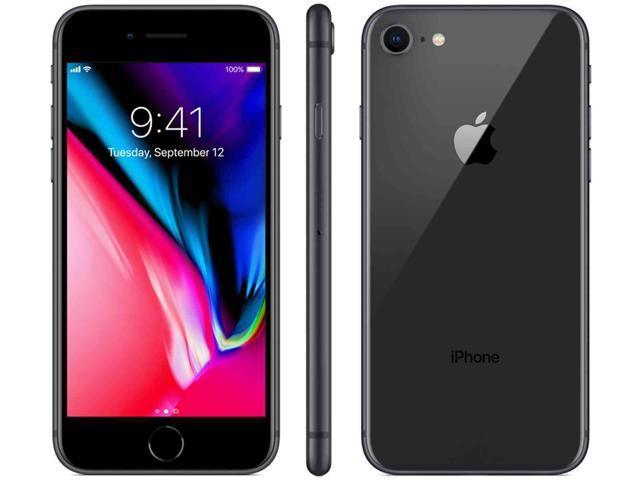 "Apple iPhone 8 64GB 4G LTE Unlocked Cell Phone 4.7"" 2GB RAM Space Gray"