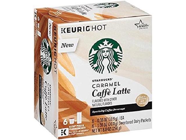 Starbucks Caramel Caffe Latte Keurig K Cups Newegg Com