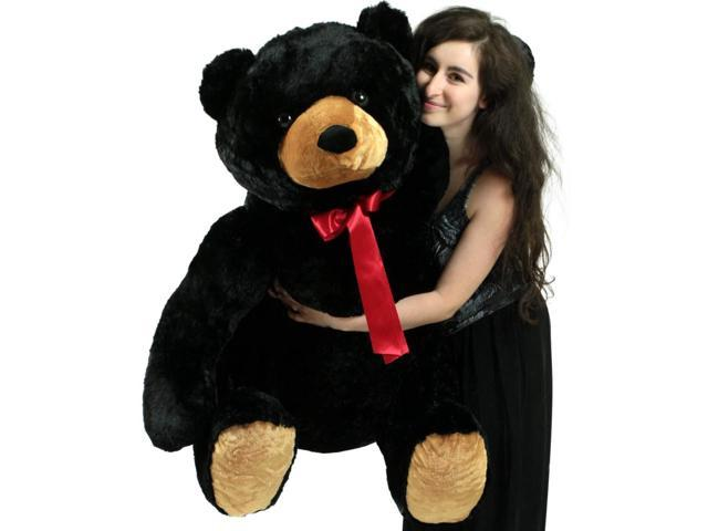 Life Size Stuffed Black Teddy Bear Soft Big Plush Animal 3 Feet