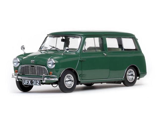 c9ef238616 1963 Austin Mini Countryman Green 1 12 Diecast Model Car by Sunstar
