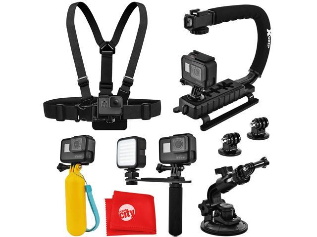 F-60 Reloaded Action Camera Navitech 30-in-1 Action Camera Accessories Combo Kit with EVA Case Compatible with The Nilox F-60 MM93