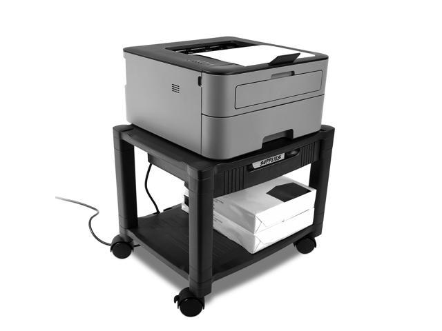 Circuit City 3 Shelf Rolling Printer Cart Machine Stand with Drawer 2 Pack