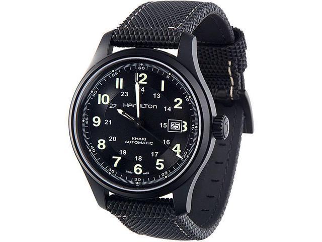 Hamilton Men S Hml H70575733 Khaki Field Black Dial Watch Newegg Com