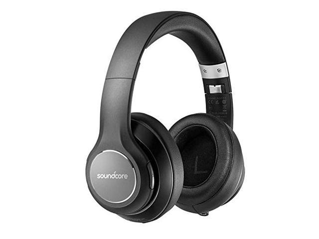 Soundcore Vortex Wireless Headset By Anker Over Ear Headphones 20h Playtime Deep Bass Hi Fi Stereo Earphones For Pc Phones Tv Soft Memory Foam Ear Cups W Mic And Wired Mode Newegg Com