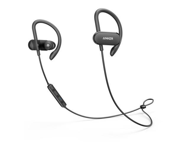 Upgraded Anker Soundbuds Curve Wireless Headphones 18h Battery Ipx7 Waterproof Bluetooth Headphones Bluetooth 5 0 Built In Mic And Carry Pouch Sweatguard Technology For Workout Gym Running Newegg Com