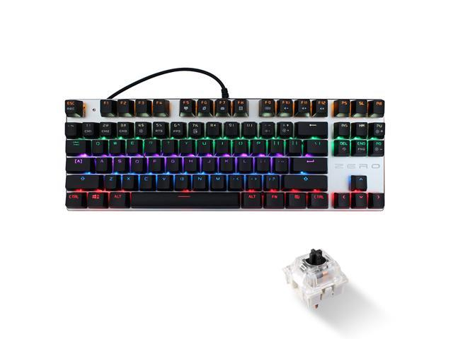Black Wired Keyboard ZGB G20 104 Keys USB Wired Mechanical RGB Backlight Computer Keyboard Gaming Keyboard Color : Black