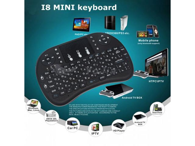2.4Ghz Gaming Keyboard Air Mouse USB Handheld Rechargeable Multimedia Remote Control 7 Colors Keyboard Compatible with PC//Google Android TV Box and More Mini Wireless Touchpad with Keyboard