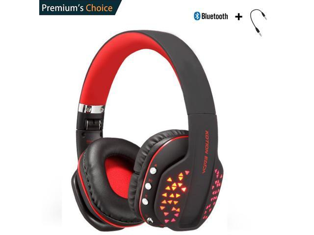 Kotion Each Bluetooth Headphone For Pc Tablet Cellphone Ps4 Xbox Red Newegg Com