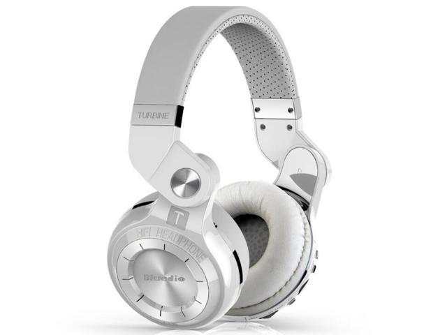 Bluedio T2 Plus Turbine Wireless Bluetooth Headphones With Mic Micro Sd Card Slot Fm Radio White Newegg Com