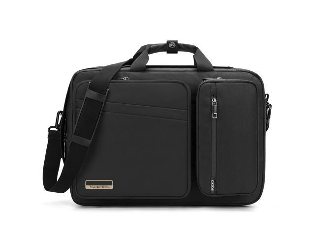 Luom Convertible Water Resistant Laptop Bag Backpac