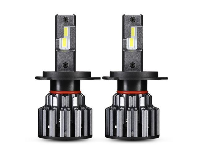 pack of 2 50W 10000LM 6500K Cool White IP68 Waterproof All-in-one LED Automotive Lights Bulbs Headlight Assemblies Car LED Headlight Bulbs Conversion Kits H4 HB2 9003