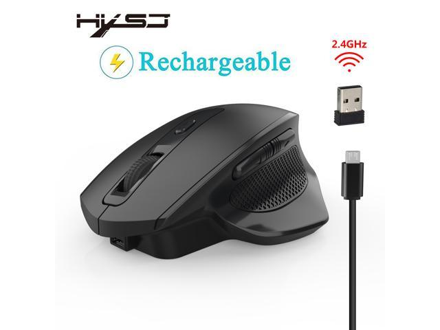 HXSJ T28 Ergonomic Mouse, Vertical Wireless Mouse - Rechargeable 2 4GHz  Optical Vertical Mice : 3 Adjustable DPI 800/1600/2400 Levels 6 Buttons,  for