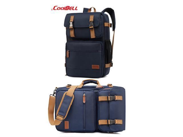 Coolbell 3 Way Convertible Laptop Backpack Messenger Shoulder Bag Hybrid Briefcase Rucksack Fits 15 6 Inch Laptop For Men Women Travel Shoulder Daypack Cb 5503 Blue Newegg Com