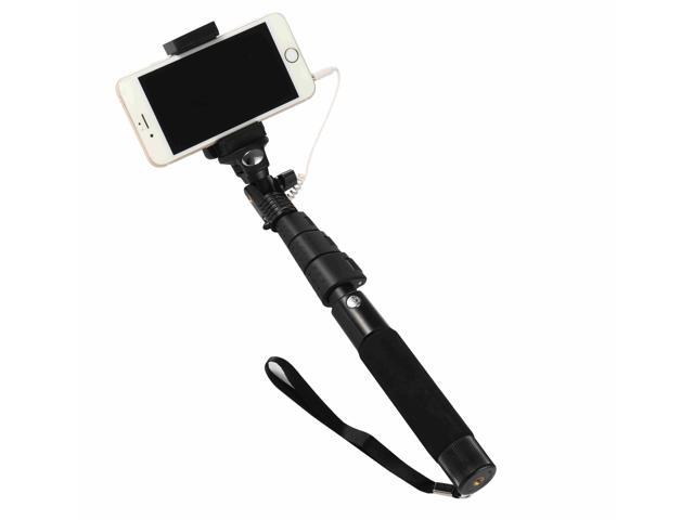 d455df17d8b170 Wired Selfie Stick,KOMRT Professional High End Alloy Selfie Stick with  Universal Phone Holder for