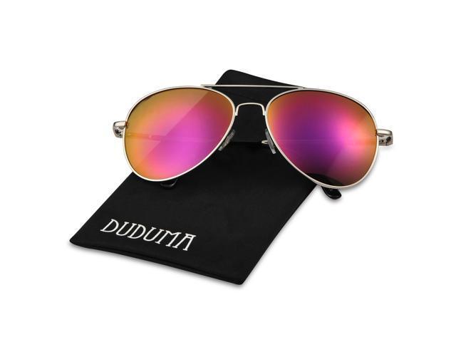 6ac4d12d4 Duduma Premium Full Mirrored Aviator Sunglasses w/ Flash Mirror Lens Uv400