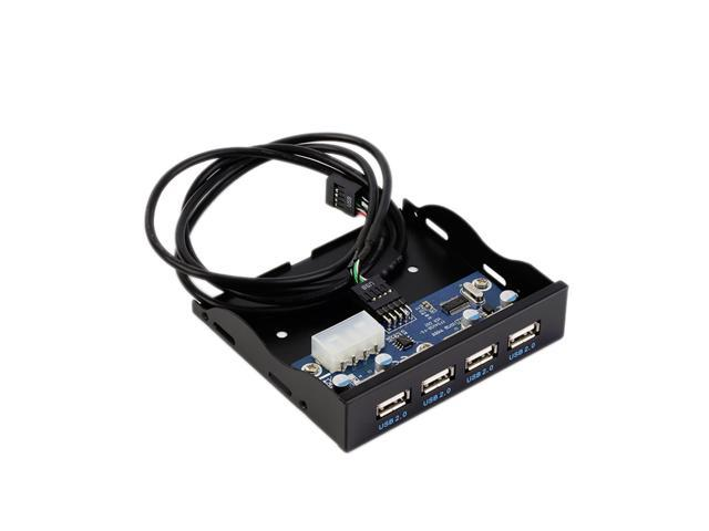 ASHATA USB Front Panel USB 3.0 Floppy Front Panel with 2-Port,3.5 inches Floppy Bay 19 Pin to 2 Interface USB3.0 HUB