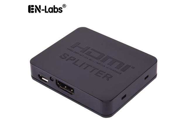 EnLabs ECHD4KSPL1X2 HDMI Splitter 1 In 2 Out,2 Ports 4K2K@30Hz HDMI  Splitter HUB Support 3D 4K 2K 2160P@30Hz 1080P@60Hz w/ USB Power Cable -