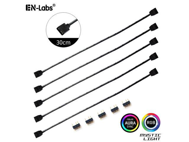 Enlabs 5 Pack 5V 3-Pin RGB Female to Female RBW LED Strip Extension Cable  w/ Gender Changer Adapter - 1 Foot - Newegg com