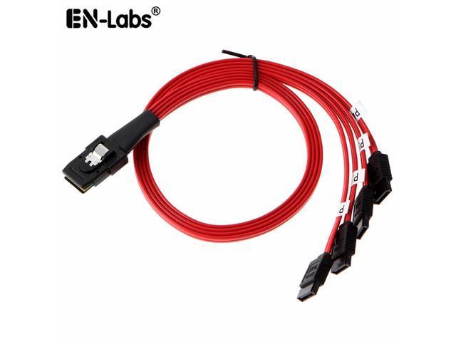 1.6FT Mini SAS 4i SFF-8087 36P To 4 SATA 7P HDD Hard Drive Splitter Cable