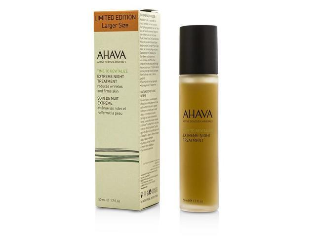 Ahava - Time To Revitalize Extreme Night Treatment -30ml/1oz Zirh Fix, Fix Targeted Skin Clearing Gel, 1.7 Oz (Pack of 2) + Scunci Black Roller Pins, 18 Pcs