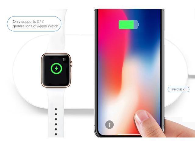 huge discount f7bd3 c730f Wireless Charging pad For iwatch&Phone8/8p/X and iPhone 8,8 Plus, iPhone  X,iwatch3/ 2 sumsang s6/7/8 huawei mate10 pro AirPower - Newegg.com