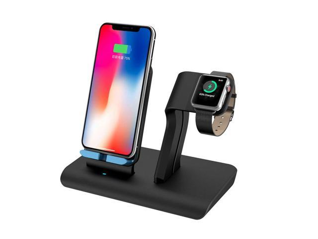 check out 06759 a0c44 Apple Watch Stand charging docks & iPhone X Wireless Charger Stand for  iPhone X/8/8 Plus,iwatch charger stand holder for Apple Watch Series 3,2,1  & ...