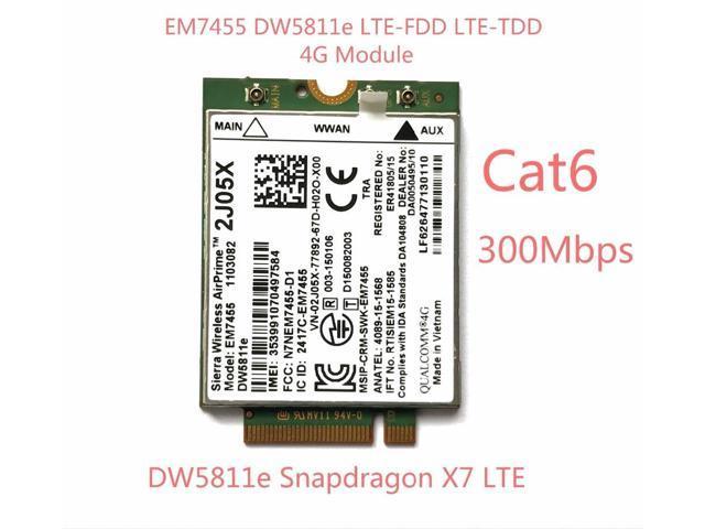 EM7455 DW5811E PN 2J05X FDD/TDD LTE CAT6 4G Module 4G Card for E7270 E7470  E7370 E5570 E5470 - Newegg com