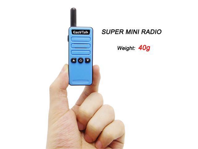 EasyTalk Mini Walkie Talkie ET-M3 16 channel UHF 400-520MHz FRS / GMRS Ham  Radio Transceiver for kids/Girl/Boy (2-pack, Blue/Black) - Newegg com
