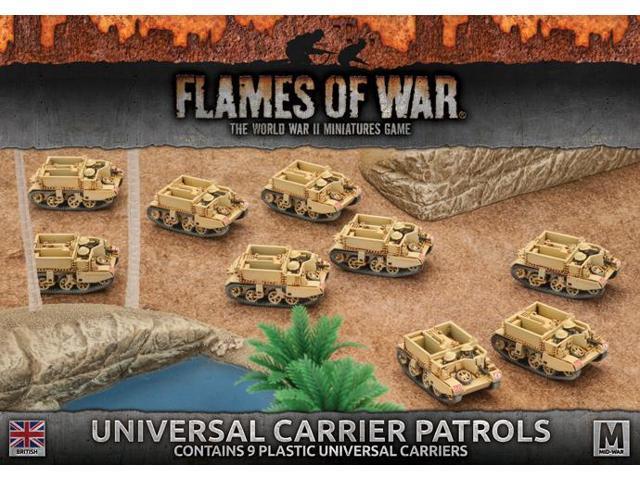 Flames of War 4th Edition British Universal Carrier Patrols FOW BBX35 -  Newegg com