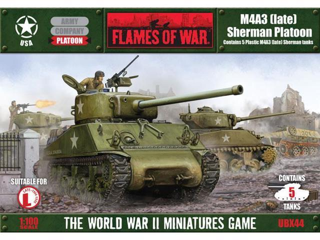 Flames of War US M4A3 Platoon plastic by Battlefront FOW UBX44 - Newegg com