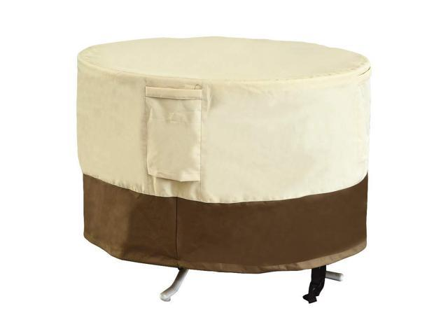 Sundale Outdoor Round Dining Table Cover Heavy Duty Waterproof Outdoor Patio Furniture Cover 48 D X 23 H Newegg Com
