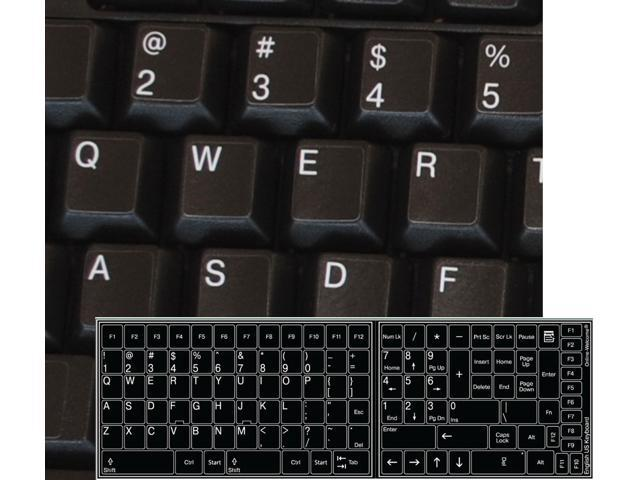 RUSSIAN-GREEK-ENGLISH KEYBOARD STICKER NON TRANSPARENT BLACK FOR COMPUTER