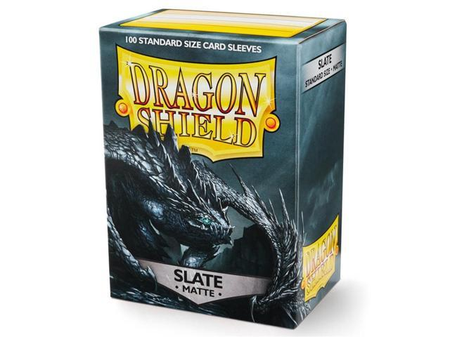 10 Packs Dragon Shield Matte Red Standard Size 100 ct Card Sleeves Display Case