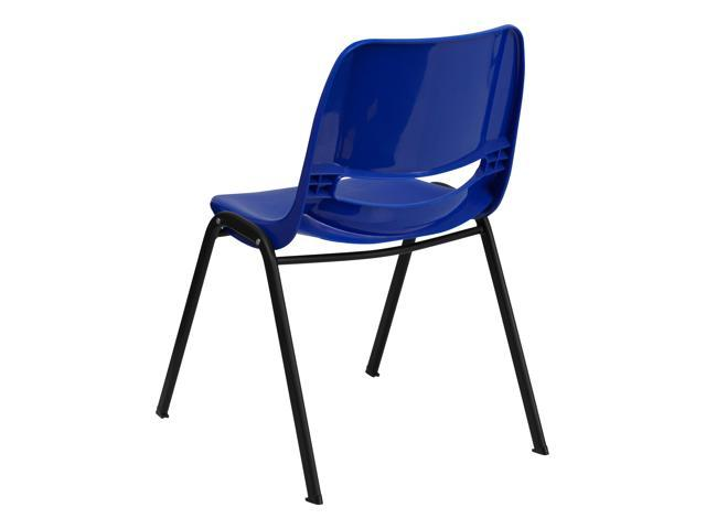 Flash Furniture Hercules Series 880 Lb Capacity Blue Ergonomic Shell Stack Chair Rut